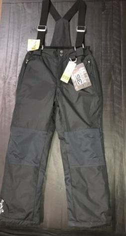 NEW Weatherproof 32 Degrees Girls Black Snow Pants Suspender