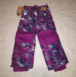 NEW Kids Champion Snow Pants Venture XS  Purple Blue Girls W