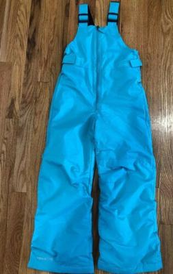 New Columbia kids Turquoise small snow/ski/snowboard bibs Ou