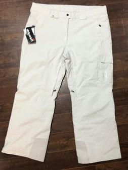 New SPYDER Troublemaker Men Ski Snow Board Pants Off White L