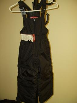 NWT Rugged Bear Black Snow Bib Pants Insulated Adjustable  -