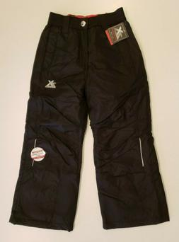 ZEROXPOSUR Girl's Black Snow Pants Size 5 6 NWT