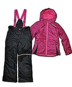 NWT XMTN Girls Winter Snow Jacket and Snow Pants Pink Black