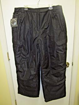 NWT Men's ARCTIC QUEST Black Insulated Ski Snowboard Snow Pa
