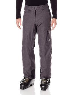 NWT Spyder Men's Troublemaker Ski Snow Pants Polar Grey Cros