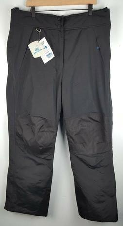 NWT SLALOM Mens Side Zip Snow Pants Sz Large Black Insulated