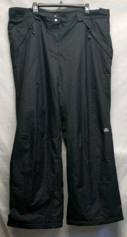 NWT Womans ZEROXPOSUR SNOW PANTS Size 2X Black WATERPROOF IN