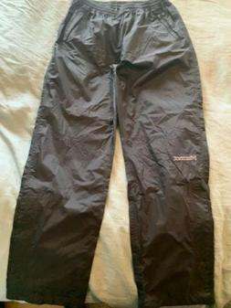 Marmot Nylon rain and snow pants. Women's Medium, Black
