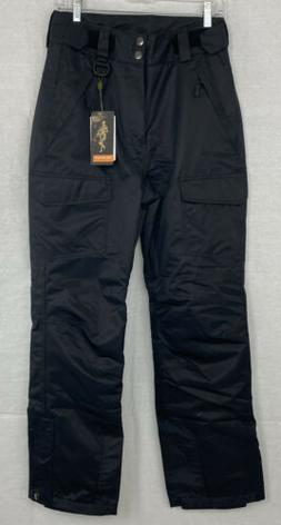 Free Soldier Outdoor Insulated Black Snow Pants - Women's