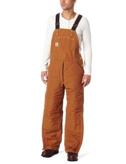 Carhartt Men's Quilted Lined Duck Bib Overall R02