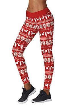 Pink Queen Red Fair Isle Leggings Snowflake Reindeer Legging