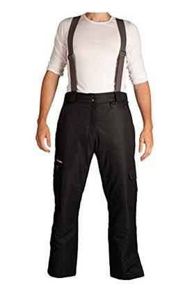 Arctix Men's Convertible Insulated Bib Pants, X-Large, Black