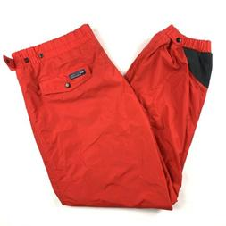 Columbia Shell Pants Ski Snowboard Snow Nylon Vtg 1980s Red