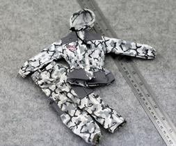 Snow hooded camouflage Coat+pants model For 1/6 male Phicen