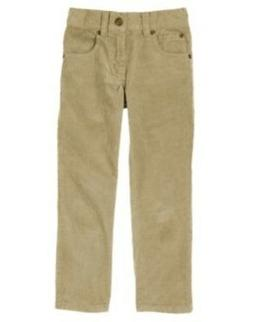 GYMBOREE SNOW LEGEND KHAKI CORDUROY PANTS 4 5 6 7 8 10 NWT