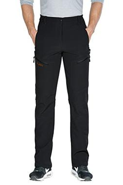 Nonwe Men's Snow Ski Pants Windproof Warmth Fleece Black M/3