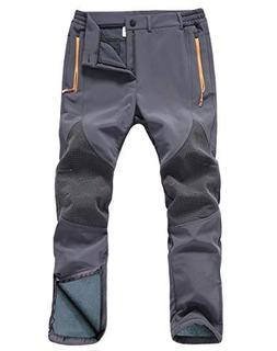 Gash Hao Mens Snow Ski Waterproof Softshell Pants Outdoor Hi