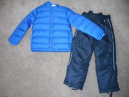 Snowsuits Boys ski pants Blue Puffer Jacket Coats Black Snow
