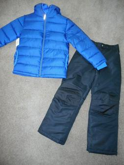 Snowsuits Boys ski pants Puffer Jacket Coats Navy Blue Snow
