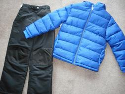 Snowsuits Boys ski pants Puffer Jacket Coats Black Snow Pant