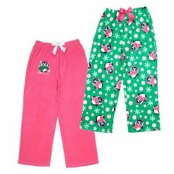 St. Eves Girl's 2 pack Fleece Sleep Pants with Penguins Let