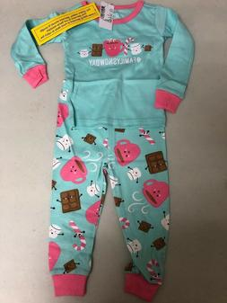 The Children's Place Top and Pants Pajama Set Iced Mint Snow