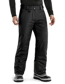 TSLA TM-YKB81-BLK_Large Men's Rip-Stop Snow Pants Windproof