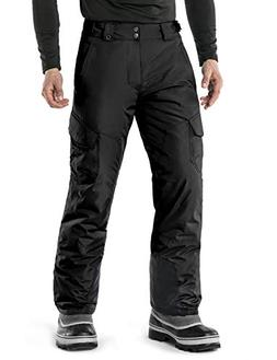 TM-YKB83-BLK_X-Large Tesla Men's Cargo Rip-Stop Snow Pants W