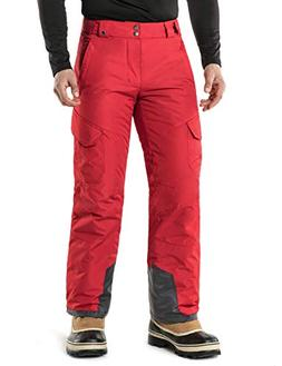TM-YKB83-RED_Large Tesla Men's Cargo Rip-Stop Snow Pants Win