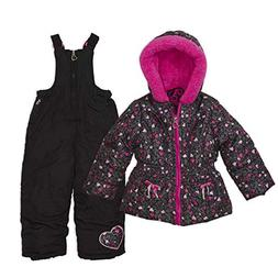 Arctic Quest Toddler Girls Leopard Print Puffer Jacket with