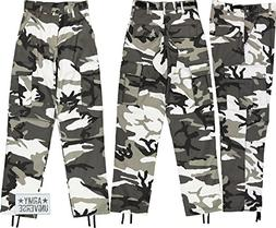 Urban City Camouflage Poly/Cotton Military BDU Fatigue Pants
