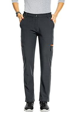 Nonwe Women's Water-Resistant Fleece Lined Warm Ski Pants Hi