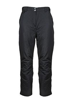 Arctic Quest Mens Black Insulated Pocket Snow Pants, XL
