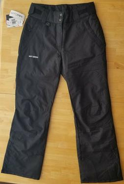 women s insulated snow pants black small
