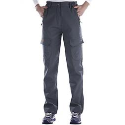 Nonwe Women's Warmth Windproof Fleece Snow Ski Pants Grey 52