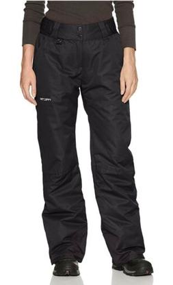 Arctix Women Snow Pant Insulated, Black, Medium Short / Peti