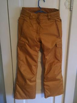Quiksilver Women's  Snowboard Snow Ski Pants Gold Bronze 1