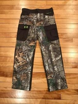 Under Armour Youth Boys Hunting Snow Camo Pant Storm Insulat