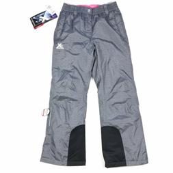 ZEROXPOSUR Youth Girls Gray Pink Ski Snow Boarding Pants Siz